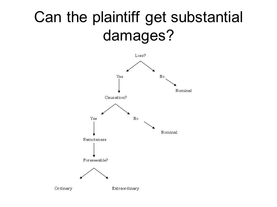 Can the plaintiff get substantial damages