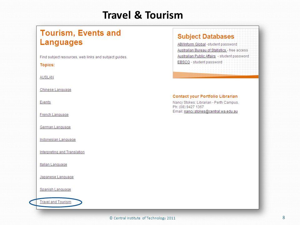8 Travel & Tourism