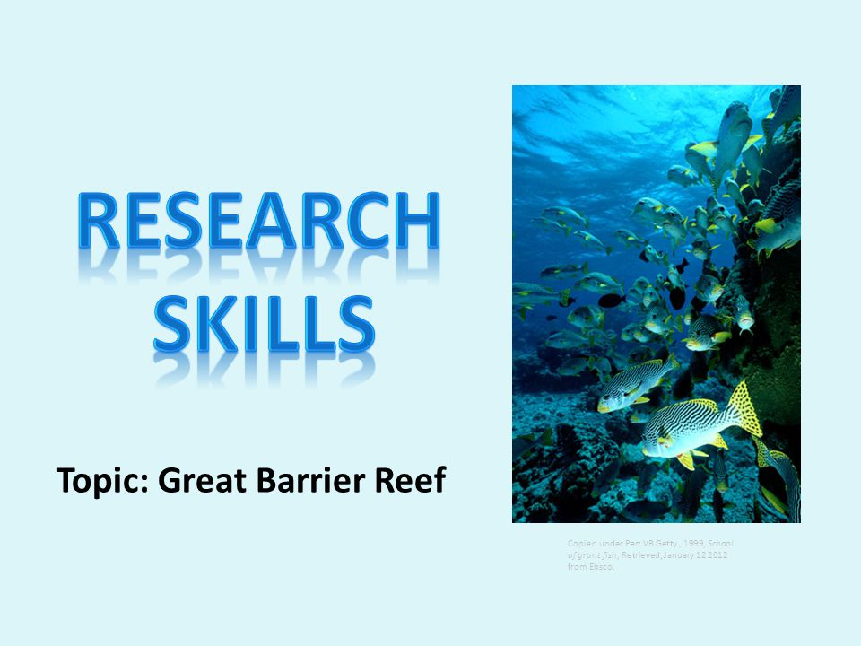 © Central Institute of Technology 2012 Results Page: Government sites, Australian sites on the Great Barrier Reef