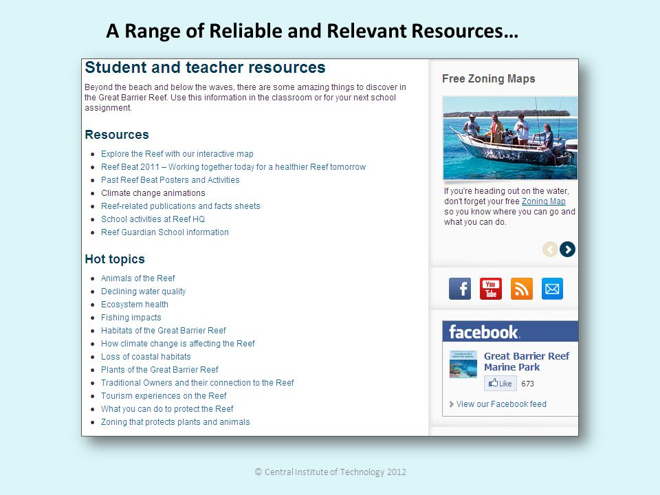 A Range of Reliable and Relevant Resources…