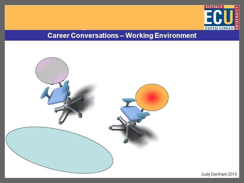 Career Conversations – Working Environment Judy Denham 2010