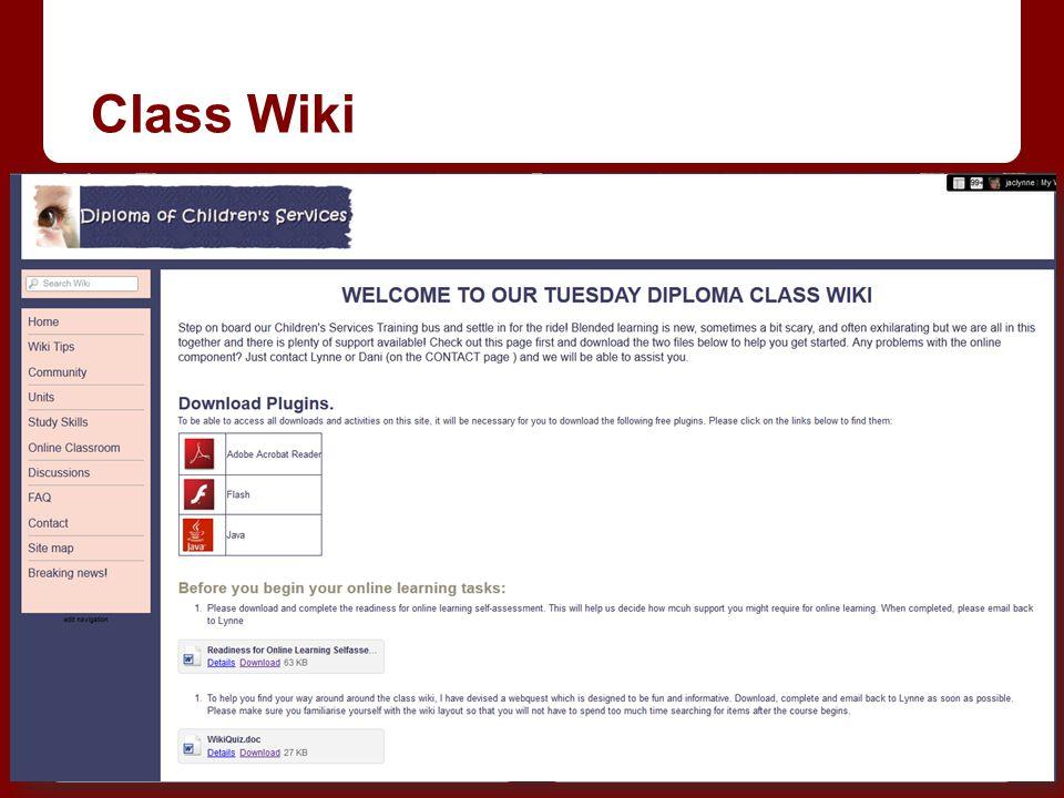 Class Wiki