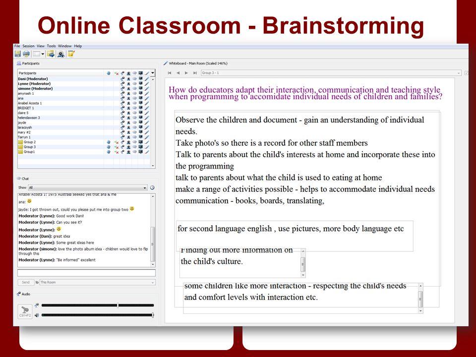 Online Classroom - Brainstorming