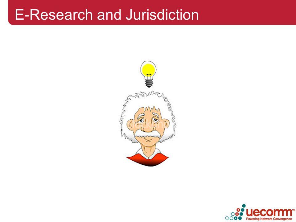 E-Research and Jurisdiction