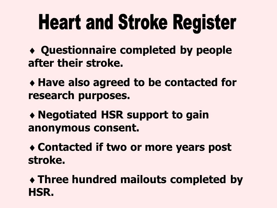  Questionnaire completed by people after their stroke.