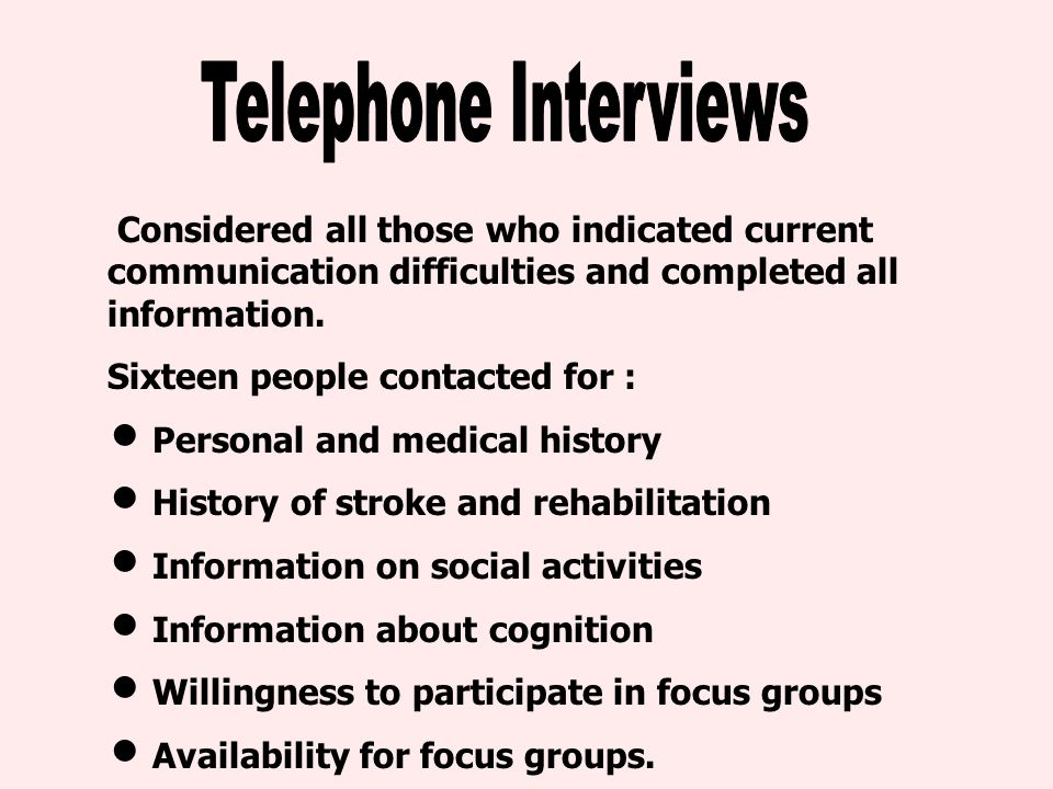 Considered all those who indicated current communication difficulties and completed all information.