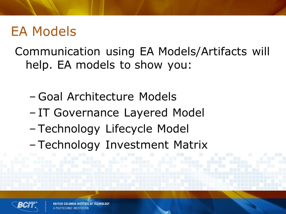 EA Models Communication using EA Models/Artifacts will help.