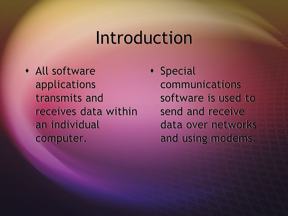 Software For Transmitting & Receiving