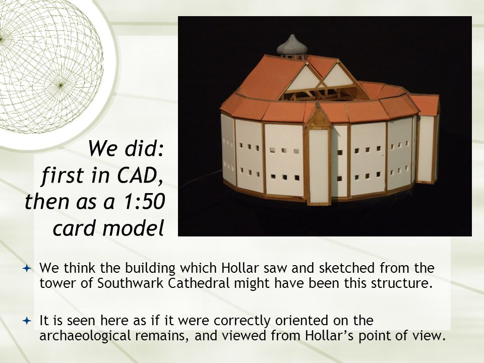  The second Globe was built quickly, on the same site as the first.