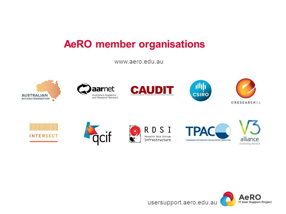 AeRO member organisations usersupport.aero.edu.au www.aero.edu.au