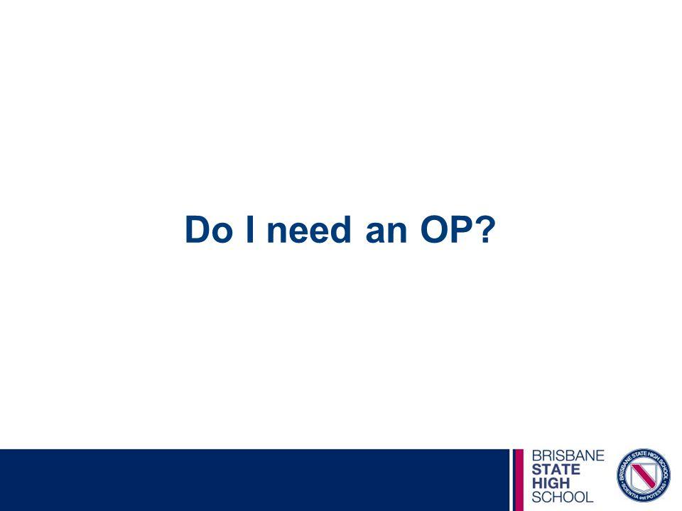 Do I need an OP?