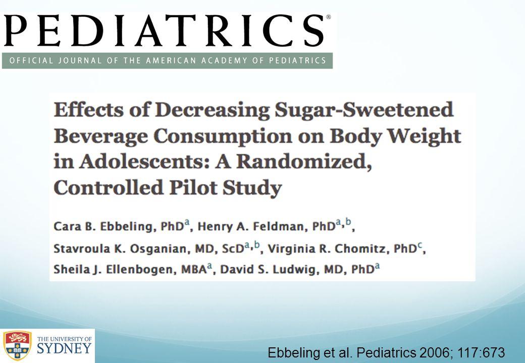 Ebbeling et al. Pediatrics 2006; 117:673