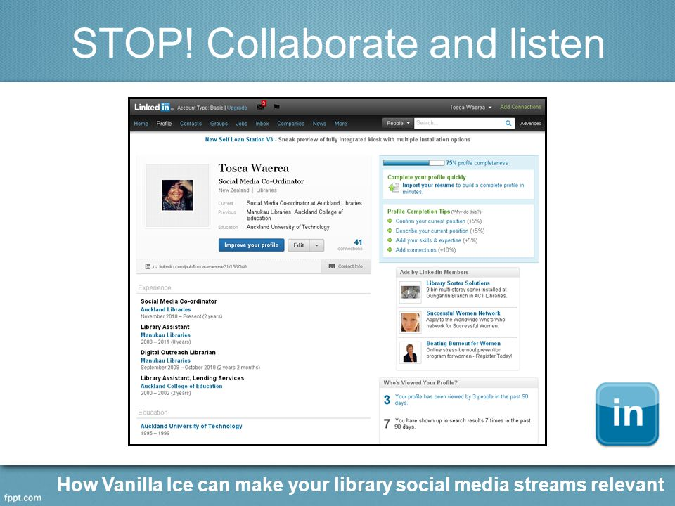 STOP! Collaborate and listen How Vanilla Ice can make your library social media streams relevant