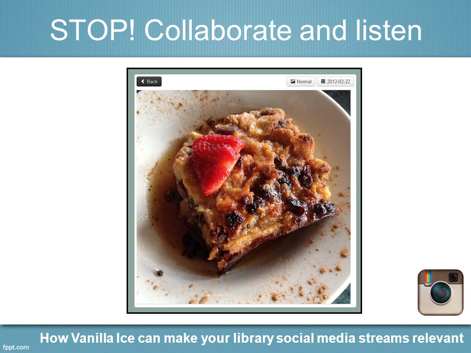 STOP! Collaborate and listen