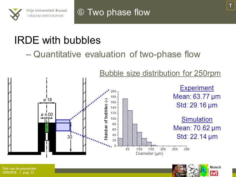 Vakgroep elektrotechniek Mutech  Two phase flow Titel van de presentatie 2/09/2014 | pag.