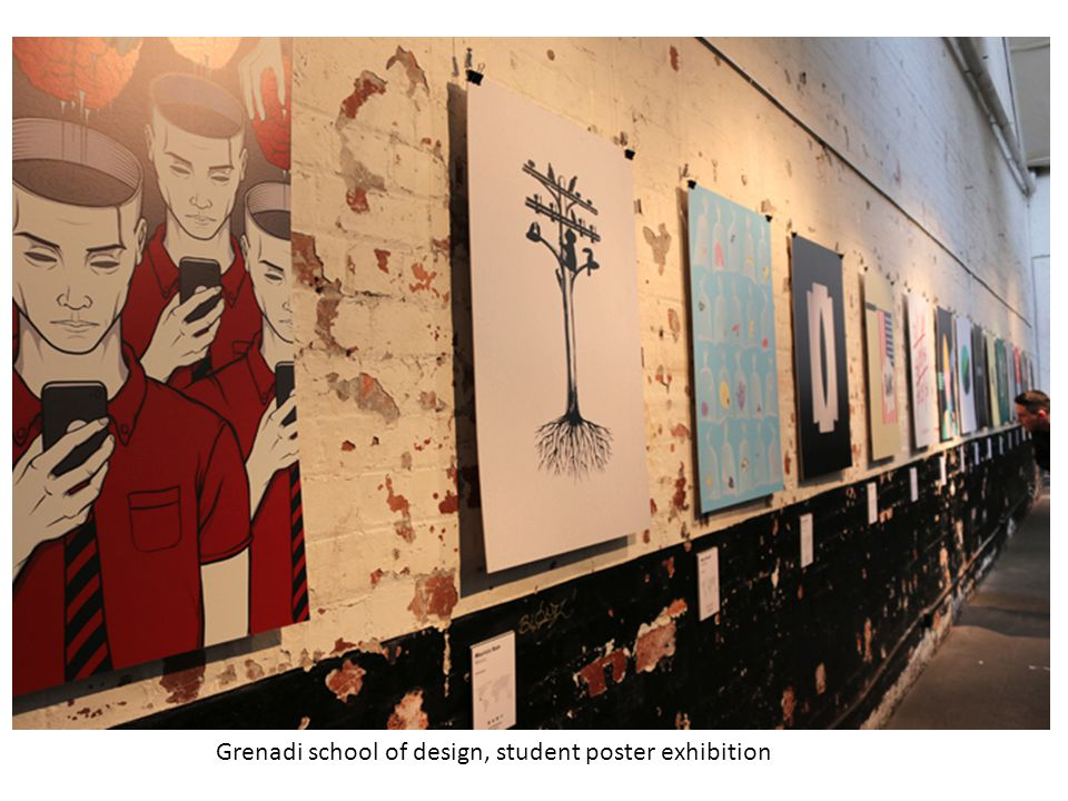 Grenadi school of design, student poster exhibition