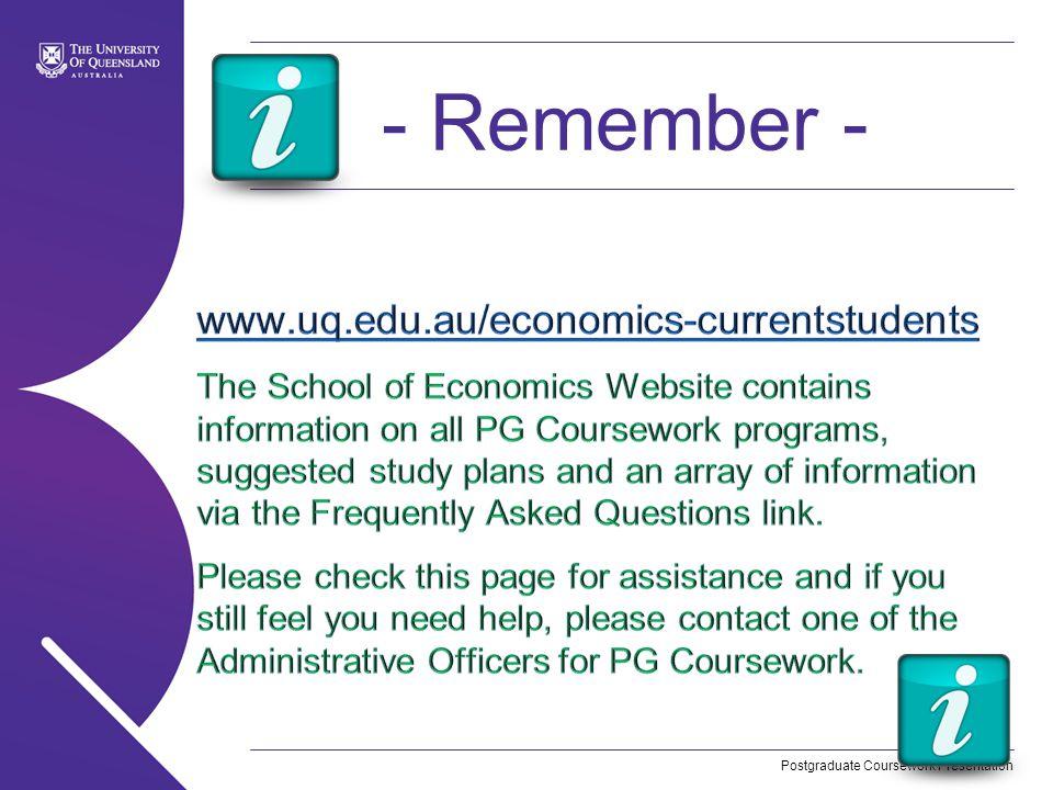 Postgraduate Coursework Presentation - Remember -