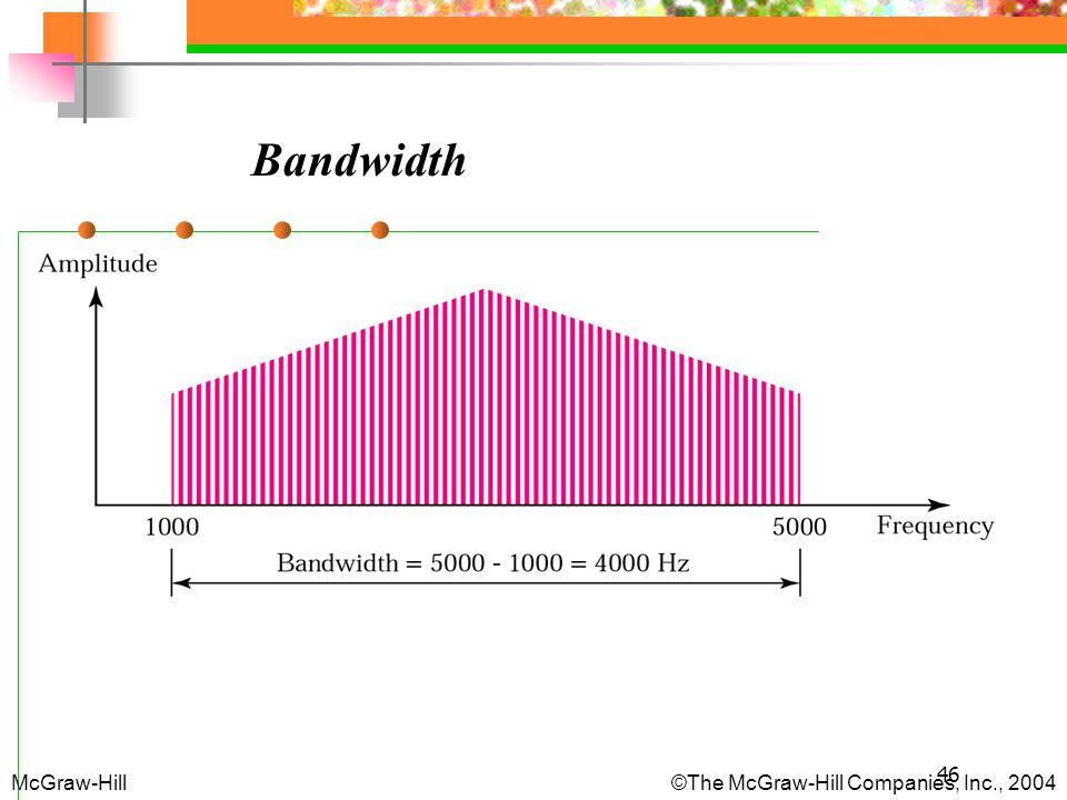 46 Bandwidth McGraw-Hill © The McGraw-Hill Companies, Inc., 2004