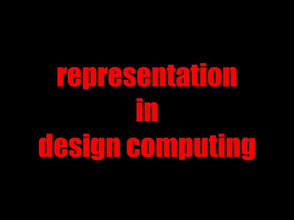 representation in design computing
