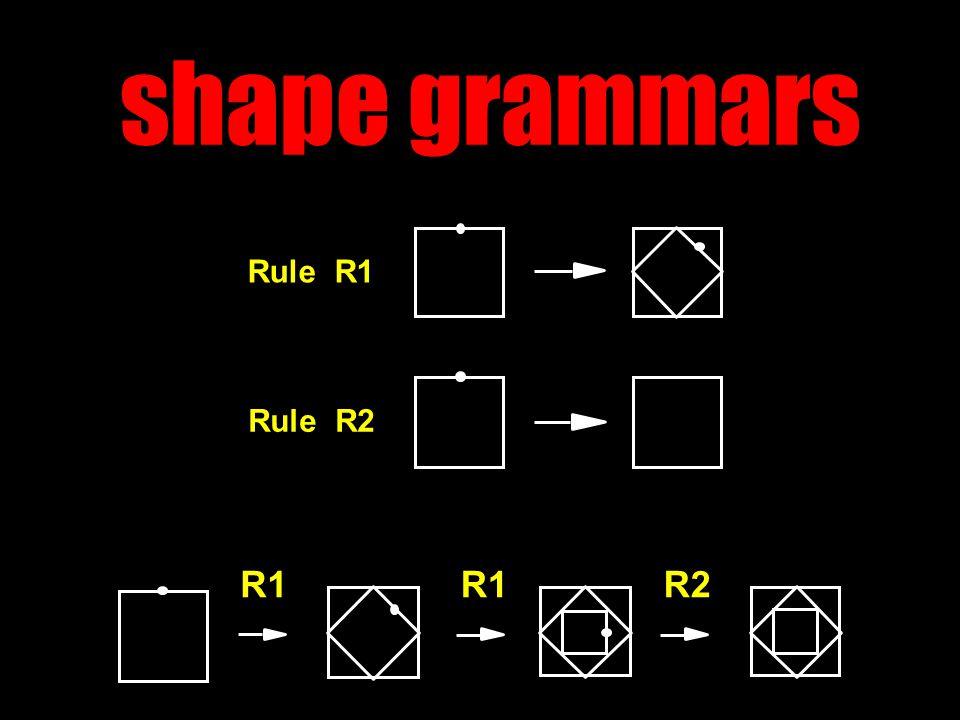 shape grammars R1 R2 Rule R2 Rule R1