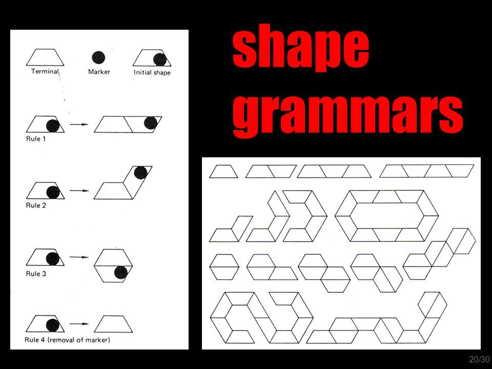 shape grammars 20/30