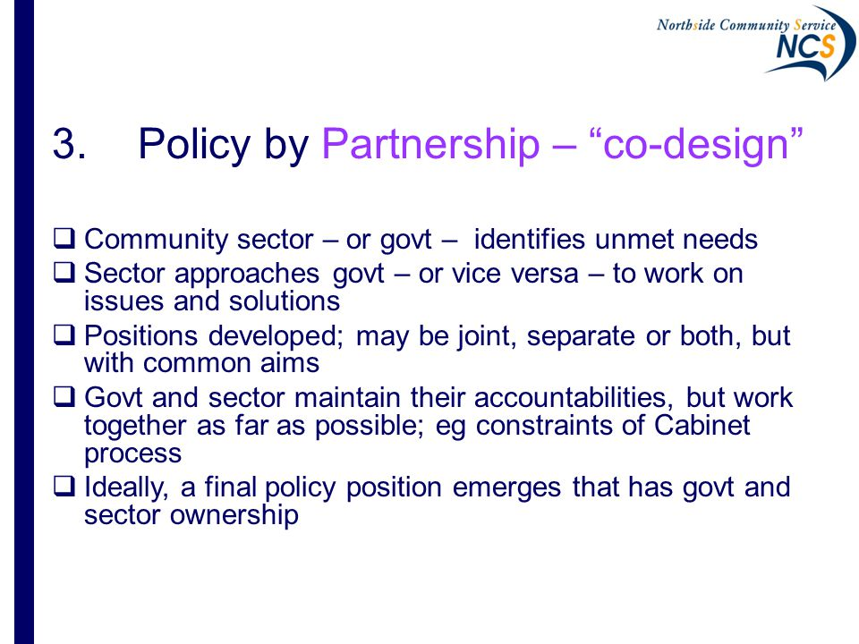 7 Community Integration Governance Group (CIGG)  2009: Problem identified: - new ACT prison with rehab and human rights aims, but no planning or coordination of throughcare to help prevent reoffending  Seen as whole-of-govt and whole-of-community (WoG/WoC) problem  CIGG developed initial policy position on Throughcare, with explicit aim to work with govt on developing the policy, not just discussing service implementation  ACT Government responded cautiously but positively