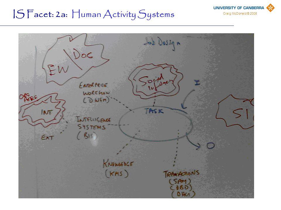Craig McDonald © 2008 IS Facet: 2b: Organizational Systems