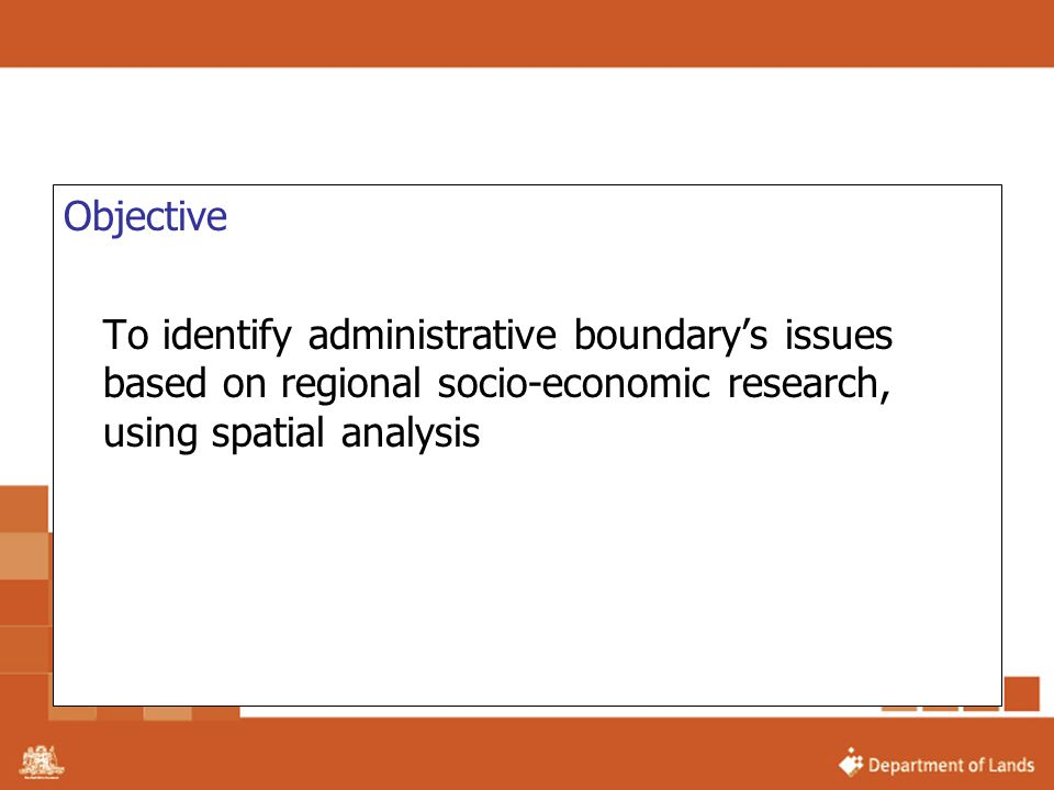 Objective To identify administrative boundary's issues based on regional socio-economic research, using spatial analysis