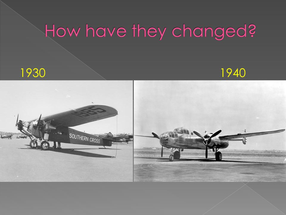 Airplanes have changed in lots of ways like the wings, the size, the power and the airplanes engine. all the things that have changed help it fly