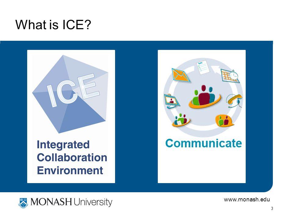 www.monash.edu 4 Why is Monash investing in ICE.