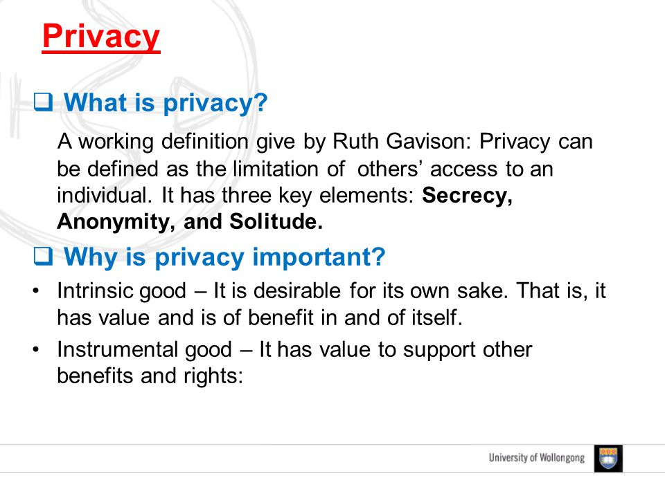  What is privacy.