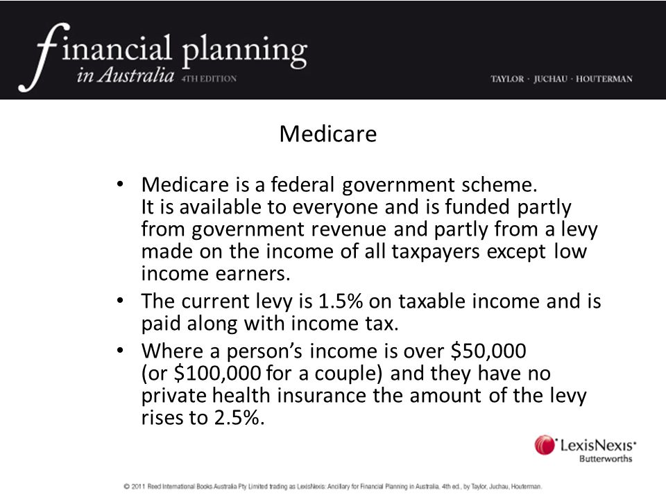 Medicare Medicare is a federal government scheme.