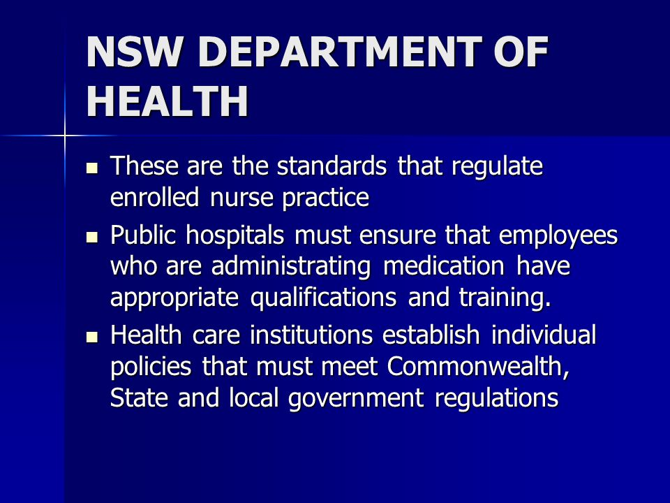 NSW DEPARTMENT OF HEALTH Guidelines for the Handling of Medication in NSW Public Hospitals Guidelines for the Handling of Medication in NSW Public Hos