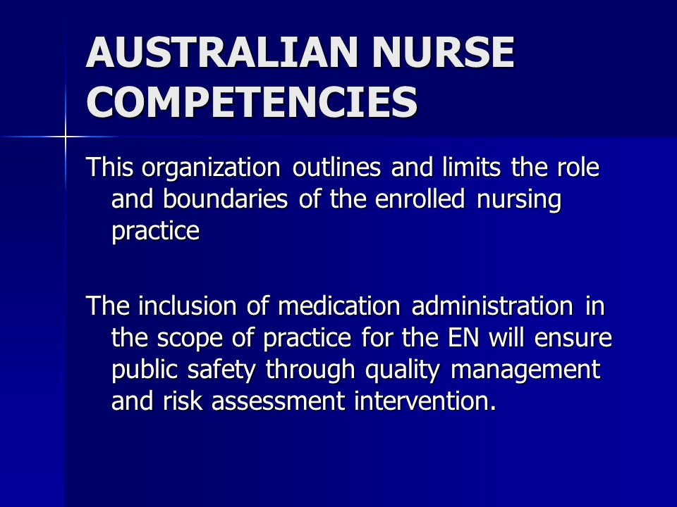 NSW DEPARTMENT OF HEALTH These are the standards that regulate enrolled nurse practice These are the standards that regulate enrolled nurse practice P