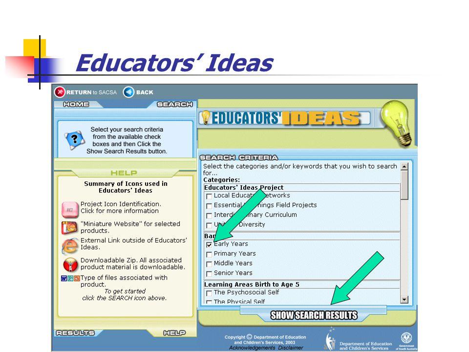 Educators' Ideas