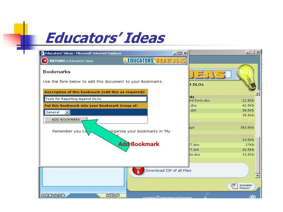 Educators' Ideas Add Bookmark
