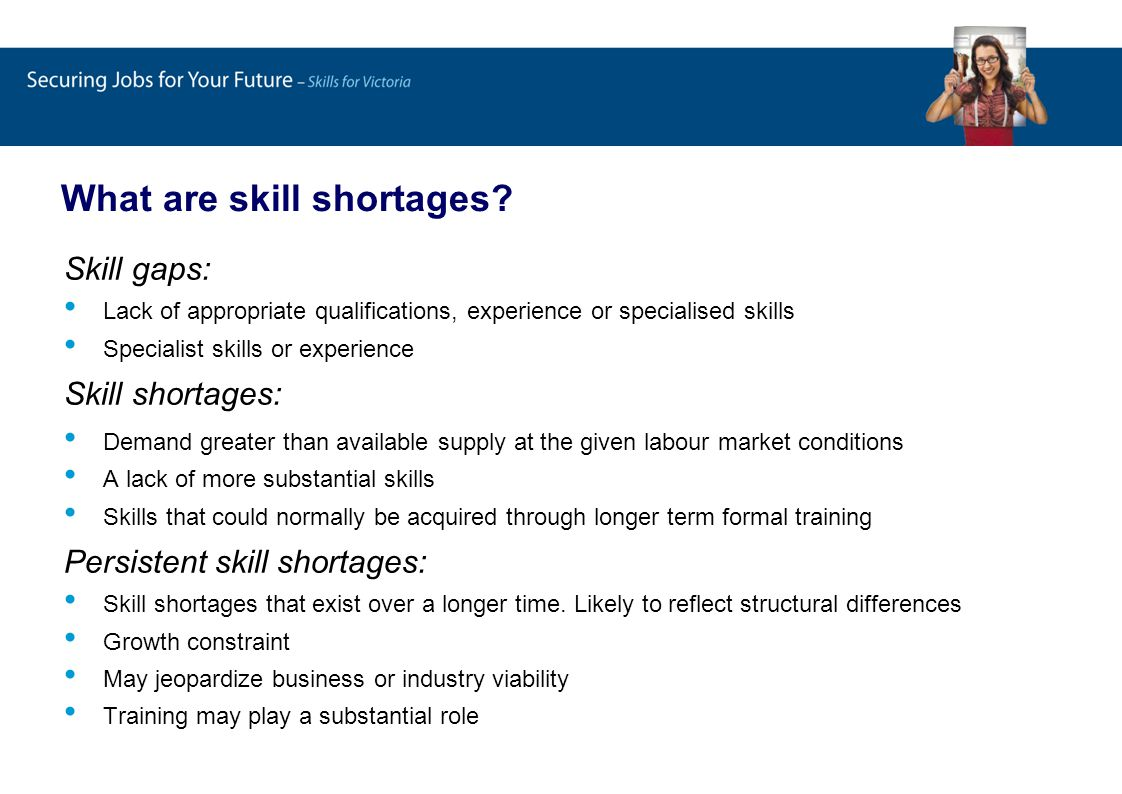 What are skill shortages.