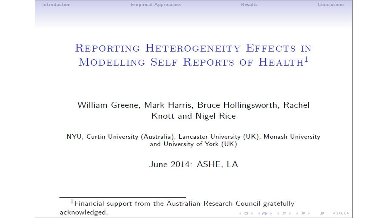 HILDA Data The Household, Income and Labour Dynamics in Australia (HILDA) dataset: 1.