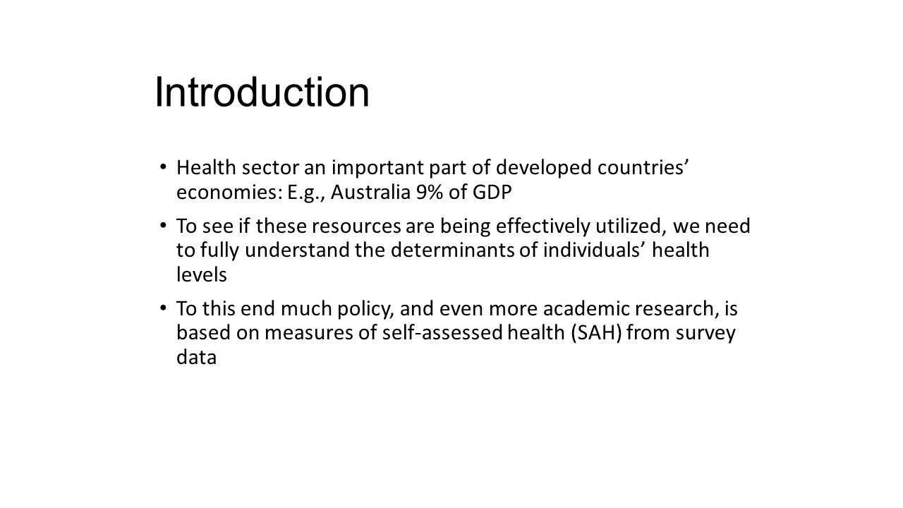 SAH vs.Objective Health Measures Favorable SAH categories seem artificially high.