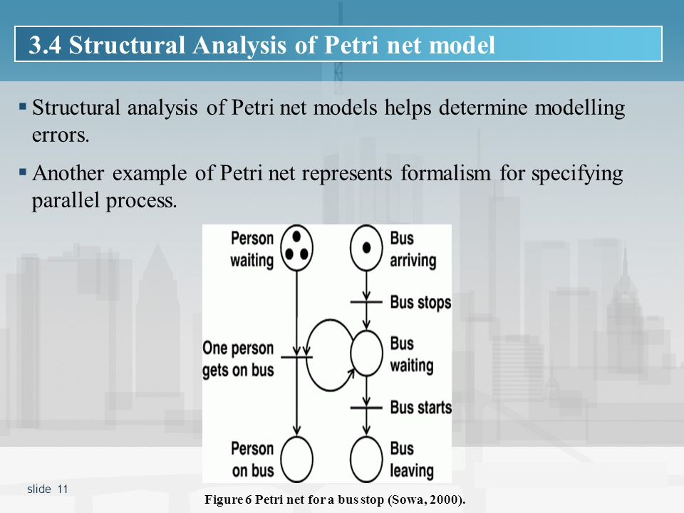  Structural analysis of Petri net models helps determine modelling errors.