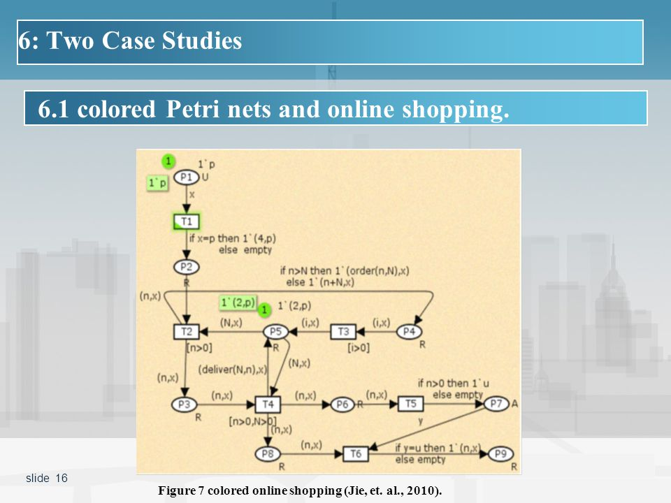 6.1 colored Petri nets and online shopping.