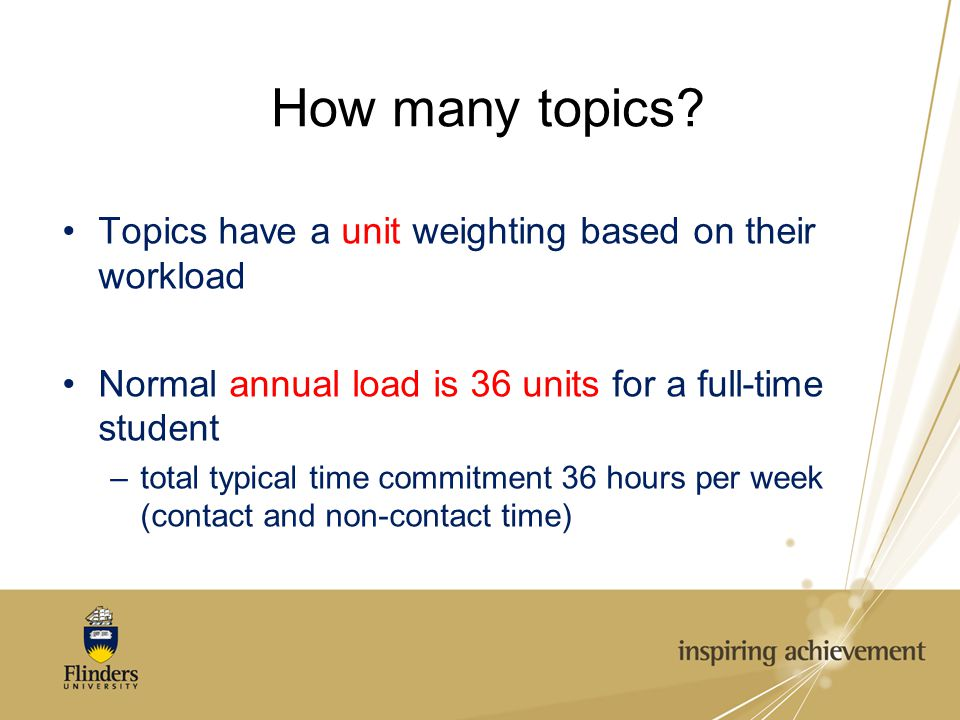 How many topics.