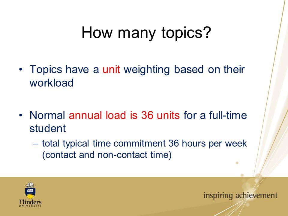 How many topics.