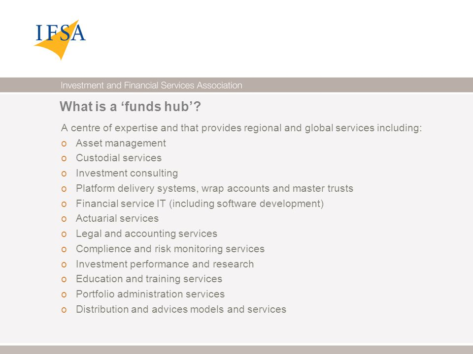 What is a 'funds hub'.