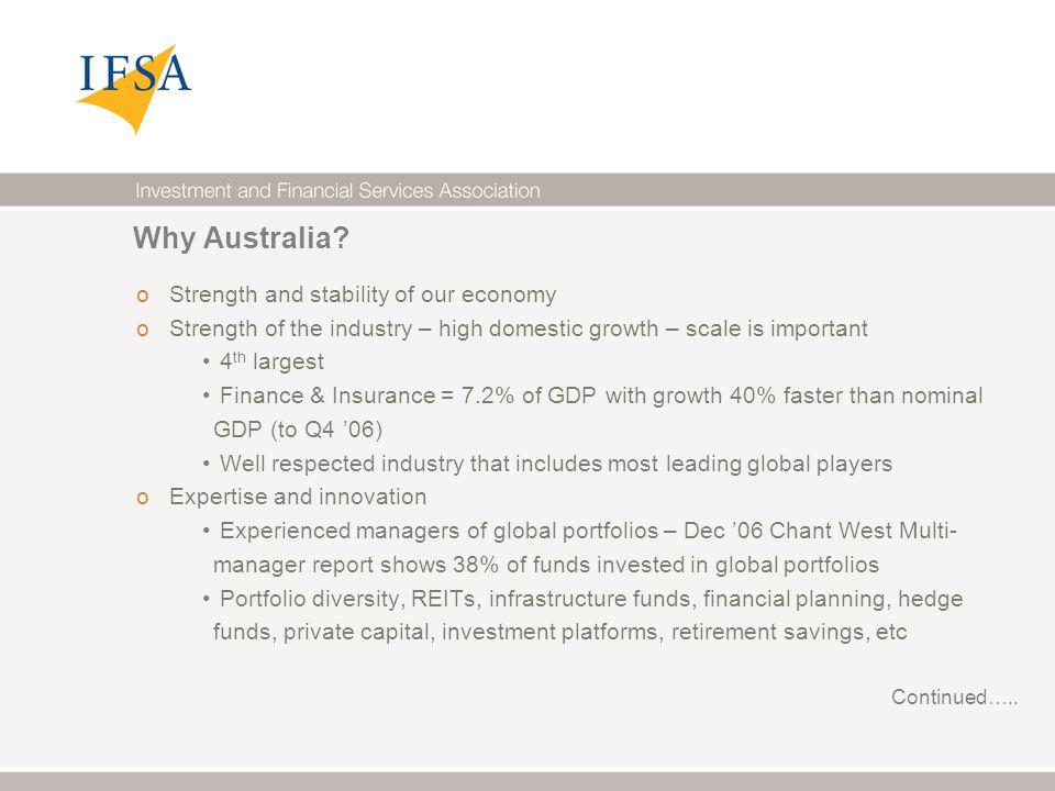 Why Australia.