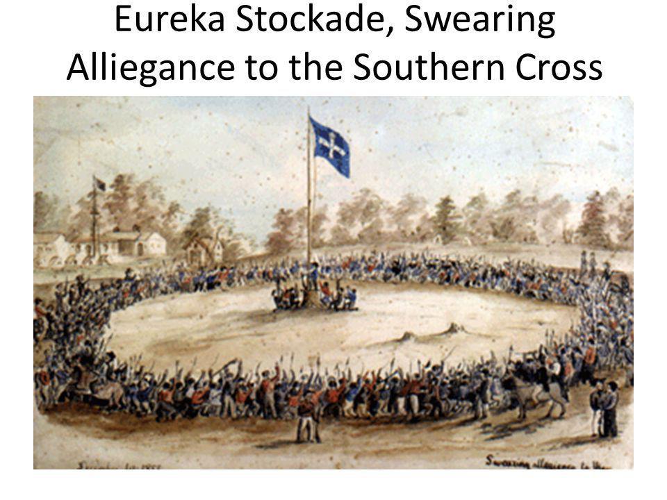 Eureka Stockade, Swearing Alliegance to the Southern Cross