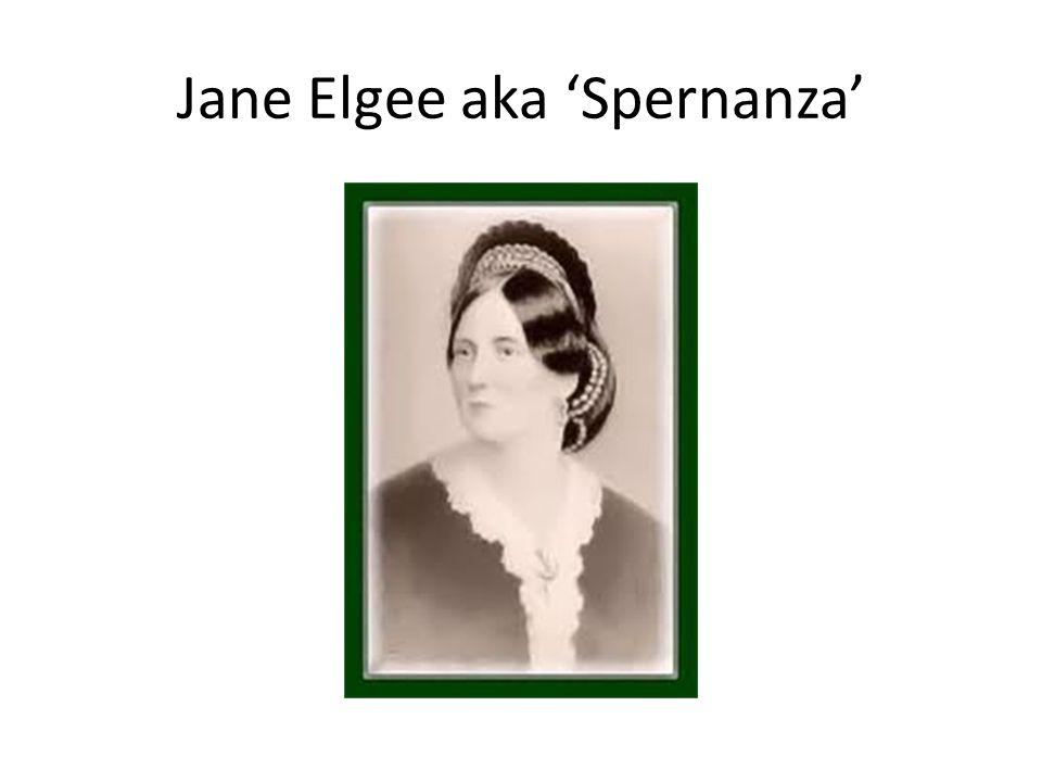 Jane Elgee aka 'Spernanza'