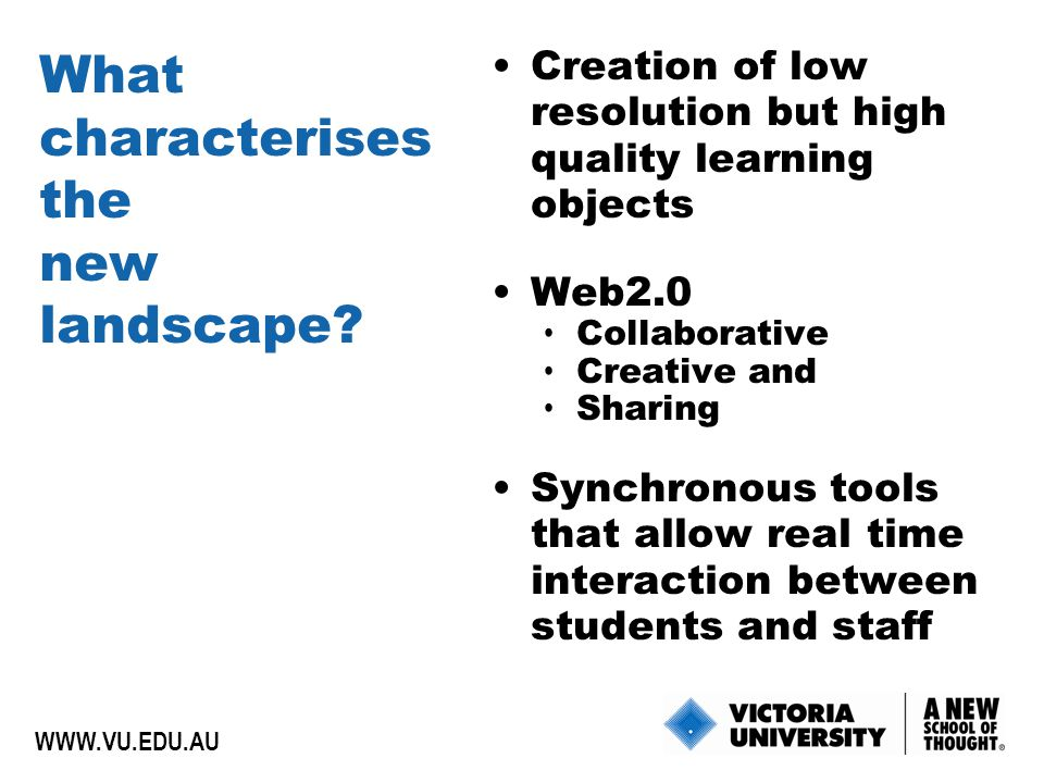 What characterises the new landscape.