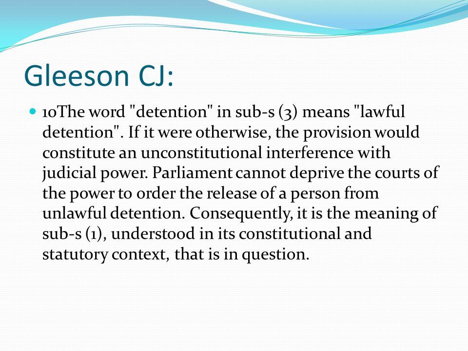 Gleeson CJ: 10The word