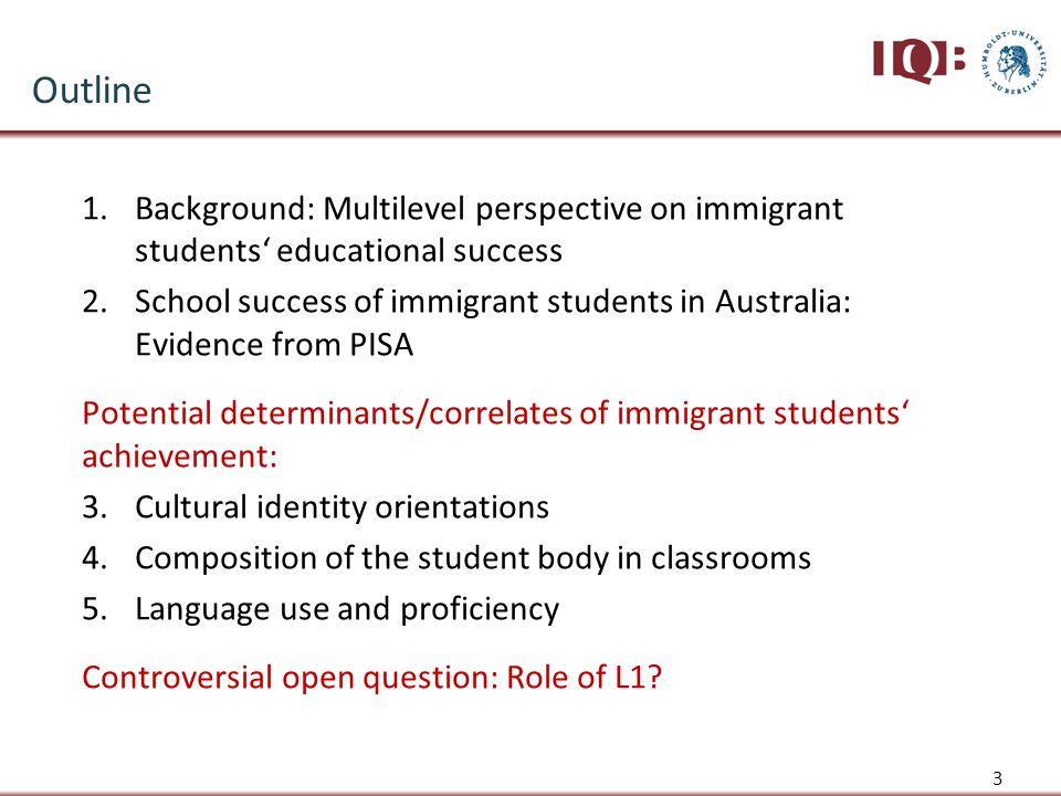 School Success of Immigrant Students in Australia